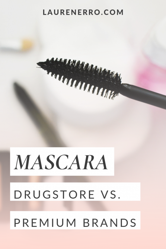 expensive mascara vs. drugstore brand