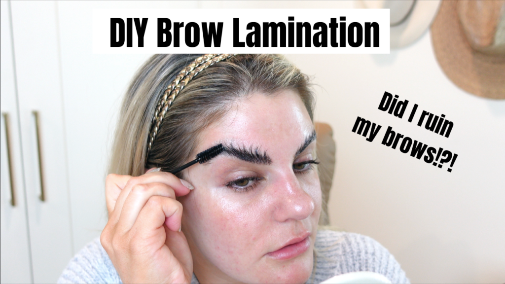 I tried brow lamination on my thick, coarse brows…
